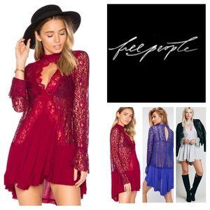 Free People Secret Origins Pieced Lace Tunic. NWT.