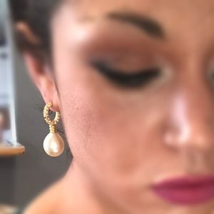 Vintage pearl drop earrings
