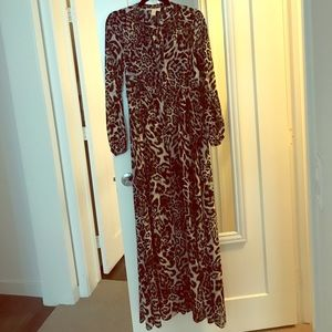 Michael Kors leopard print grey dress