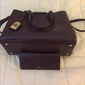 Ralph Lauren Satchel and matching wallet