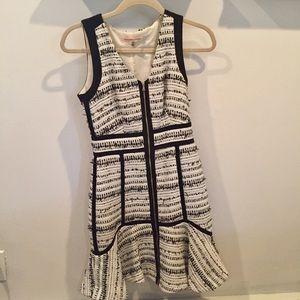 Rebecca Taylor tweed zip up dress