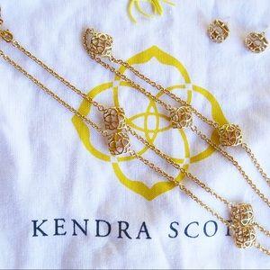 Kendra Scott Tima Earrings & matching necklace