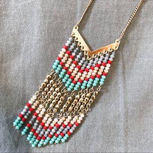 Beaded fringe Lively necklace