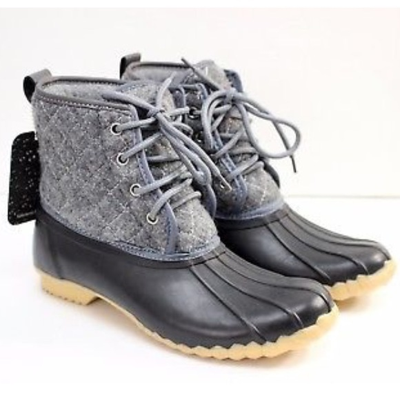 47817fda1f0 Chooka New Eastlake Quilted Gray Winter Duck Boots