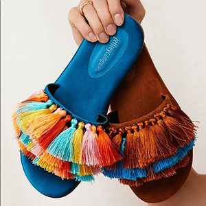 Jeffrey Campbell Fringe Watercolor Tassel Sandals