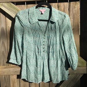 Lilly Pulitzer | 100% silk blouse