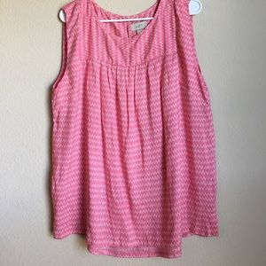 Pink patterned top from The Loft