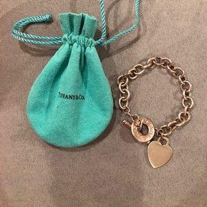 Tiffany's heart tag toggle bracelet