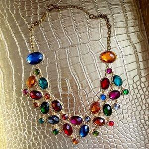 Vintage multi-color stone necklace