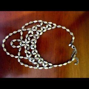 Chico's silver bib necklace