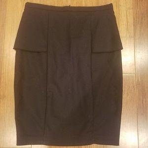 Zara basics black pencil skirt