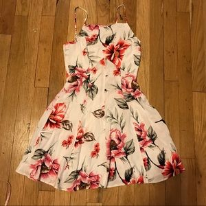 Asos white flare fitted dress xs 0 like new retro