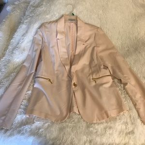 Charlotte Russe XL Blush Pink And Gold Blazer!