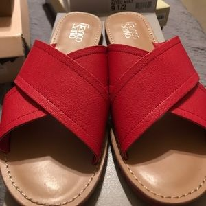 Franco Sarto Red Criss Cross sandals
