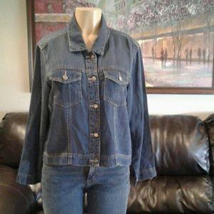 Coldwater Creek .Jean jacket