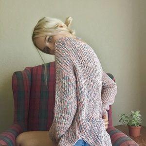Multi-Colored Knit Sweater🌸🌼💜