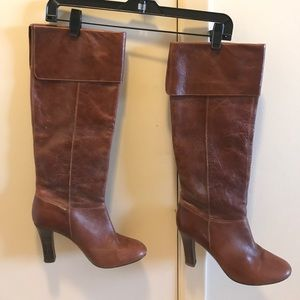 Steve Madden Slouchy Leather Heeled Boots