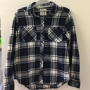 * Navy and White Pacsun Flannel *