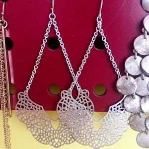 Various statement earrings never worn