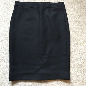 NWT JCrew Black No. 2 Pencil Skirt in Double Serge