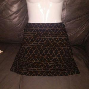 H&M black mini skirt sz L