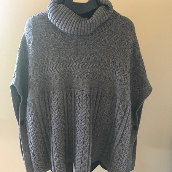 70% off classiques entier Sweaters - Cowl neck cable knit poncho ...