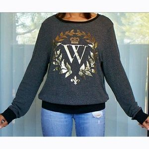 WILDFOX W baggy beach pullover fleece sweatshirt