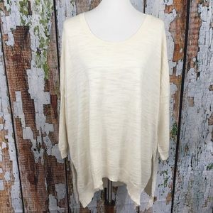 Moth Ivory Oversized Split Hem Sweater