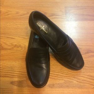 Cole Haan Black Leather Women's Penny Loafers