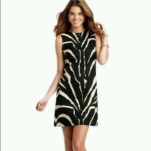 ANN TAYLOR LOFT Animal Print Black Zebra Dress