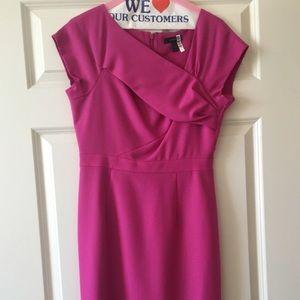 J Crew Origami Wool Crepe Dress in Pink