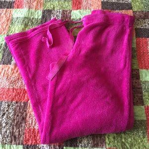 BNWOT Pink sparkly pajama pants