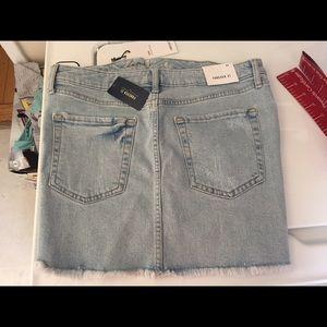 Brand NEW Forever 21 light denim skirt destroyed
