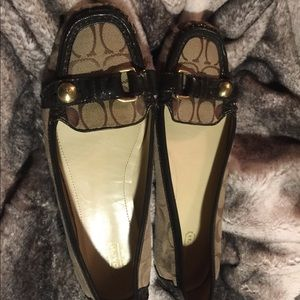 Coach signature C loafers size 11