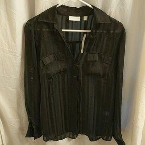 Beautiful sheer black blouse buy New York & Compan