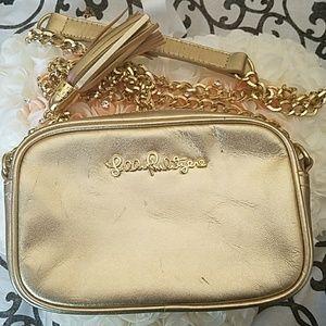 Lilly Pulitzer Gold Crossbody Bag