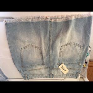 Brand New Forever 21 destroyed denim milk skirt M
