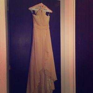 Jenny Yoo Layered Silk Chiffon Hi-Lo Dress