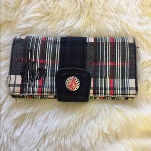Volcom Plaid Cloth Wallet