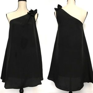 F21 Black One Shoulder Cocktail Dress Size Small