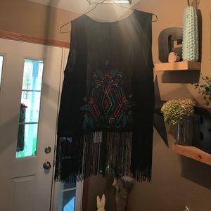 NWOT tribal fringe vest