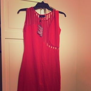 Red bodycon dress from Asos
