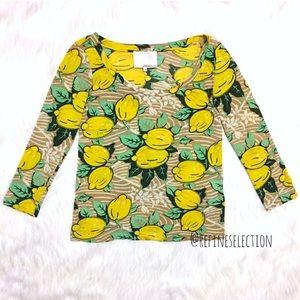 3.1 Phillip Lim Lemons Silk Blend Top