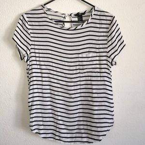 Stripped blouse.