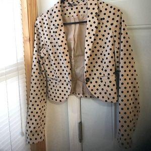 Polka dot blazer