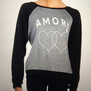 Wildfox Raglan AMORE Sweatshirt XS