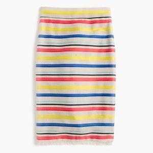 J. Crew Colorful jacquard striped skirt