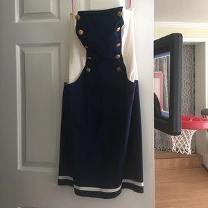 Betsey Johnson Sailor Pencil Dress Size 10