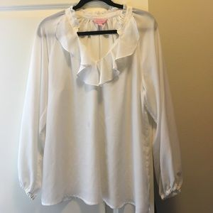 size large white Lilly Pulitzer blouse