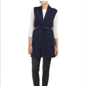 Tahari Cashmere Long Belted Vest